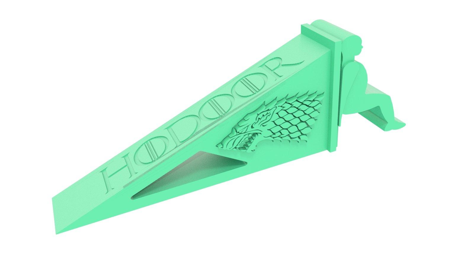 3D Printed Novelty Hodoor Doorstop Door Stop - Inspired by Game of Thrones (Sea Green) Remember Hodor !