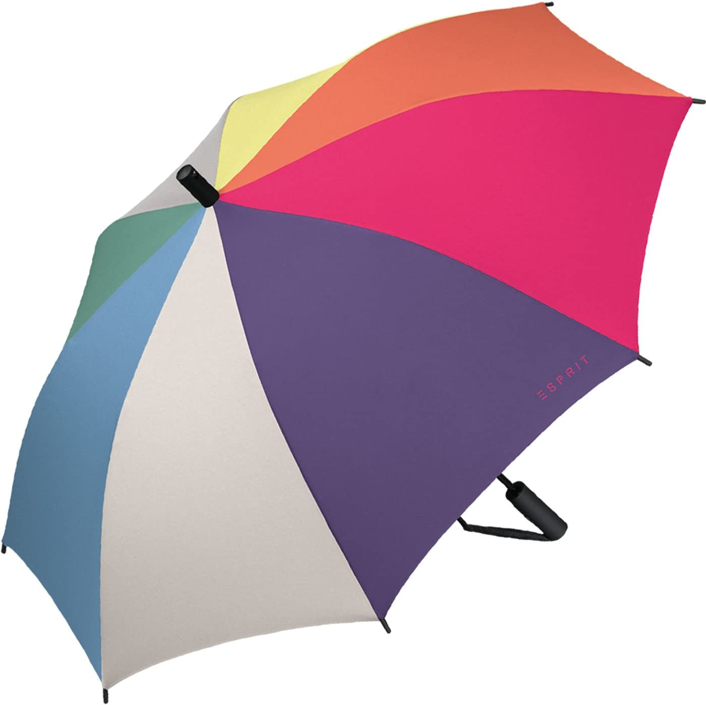 Esprit Regenschirm Schirm Slinger Automatik blau