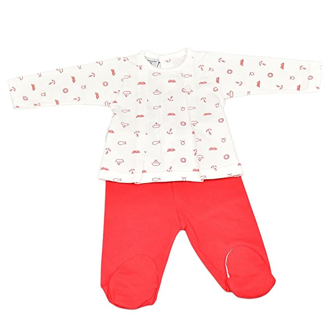 Babidu 56235, Conjuntos de Pijama Unisex bebé, (Rojo 001), 50 (