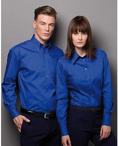 Kustom Kit- Camisa Oxford de manga larga de empresa para ...