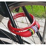 Land-Haus-Shop® Fahrradzahlenschloss 65 cm, Stahlseil ummantelt, Fahrrad Zahlen Schloss