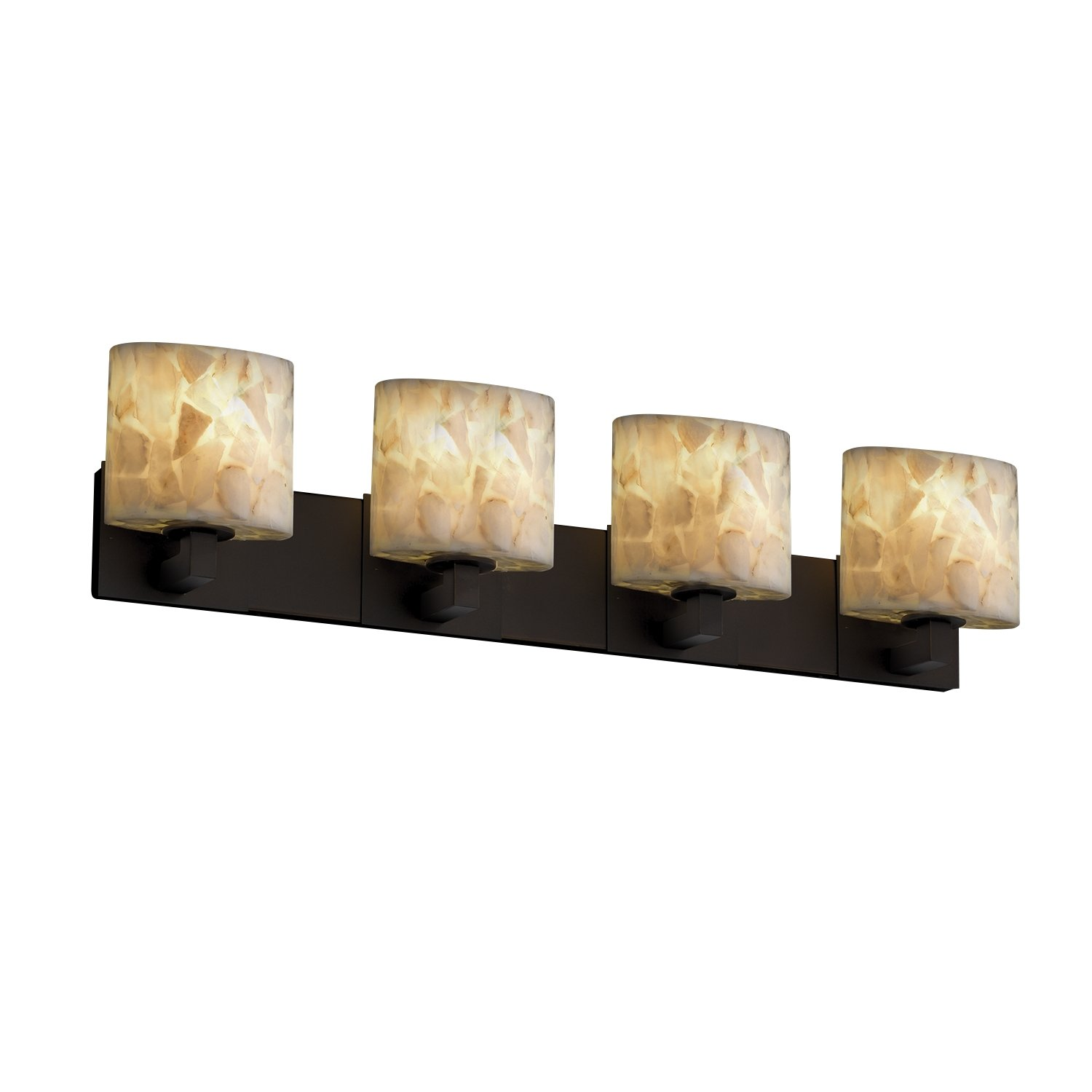 Amazon.com: Justice Design Group Alabaster Rocks! 4-Light Bath Bar ...
