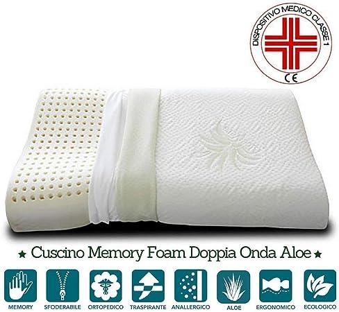 Materassi E Cuscini Per Cervicale.Evergreenweb Cuscino 100 Memory Foam Cervicale 40x70cm Con