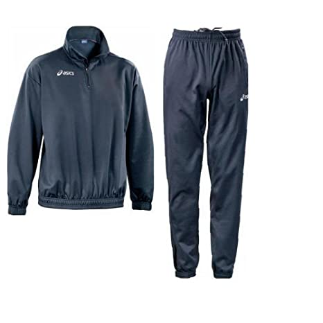 ASICS Chándal Deporte Junior Chaqueta Media Cremallera + pantalón Boston Azul Marino t380z9