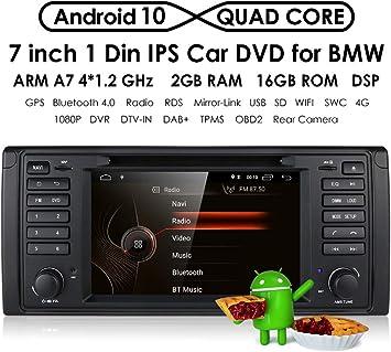 hizpo Reproductor de DVD estéreo para Coche con Radio Dash de 7 Pulgadas, Android 10, navegador
