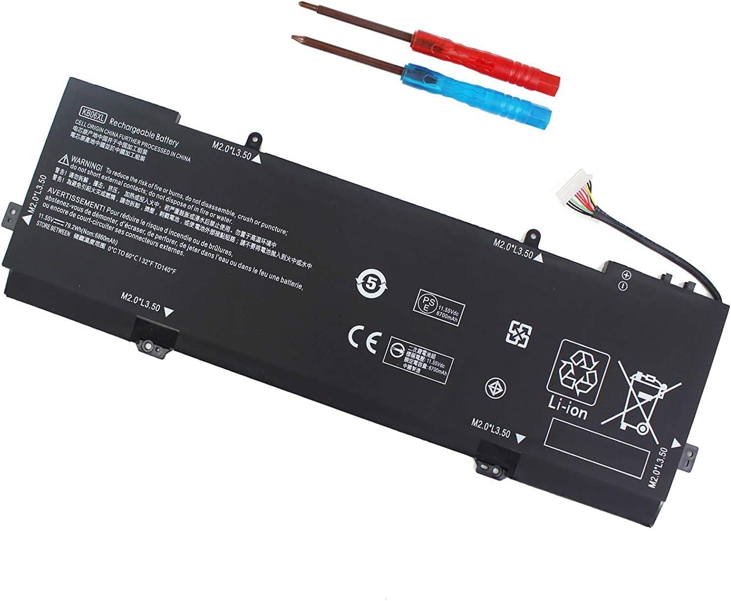 KB06XL Battery Compatible with HP Spectre X360 15-BL0XX 15-BL002XX 15-Bl012DX 15-BL075NR 15-BL030NG BL062NR 15T-Bl100 Z6L01EA Z4Z35UA Z4Z37UA 902499-855 902499-856 TPN-Q179 902401-2C1