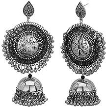 Jwellmart Indian Oxidized Afghani Padmavati Lightweight Earrings for Women and Girls
