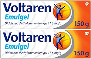 Voltaren Emulgel Twin Pack for Muscle and Back Pain Relief 1.16%, 2 X 150g, 300 Grams, Pack of 2
