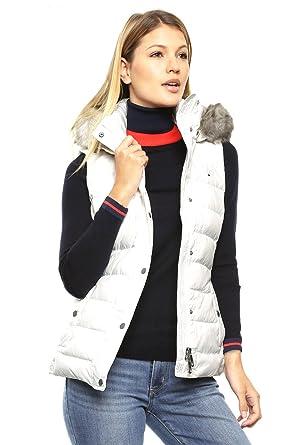 Tommy Hilfiger damas chaleco New Tyra Down Vest, mujer, blanco roto: Amazon.es: Deportes y aire libre