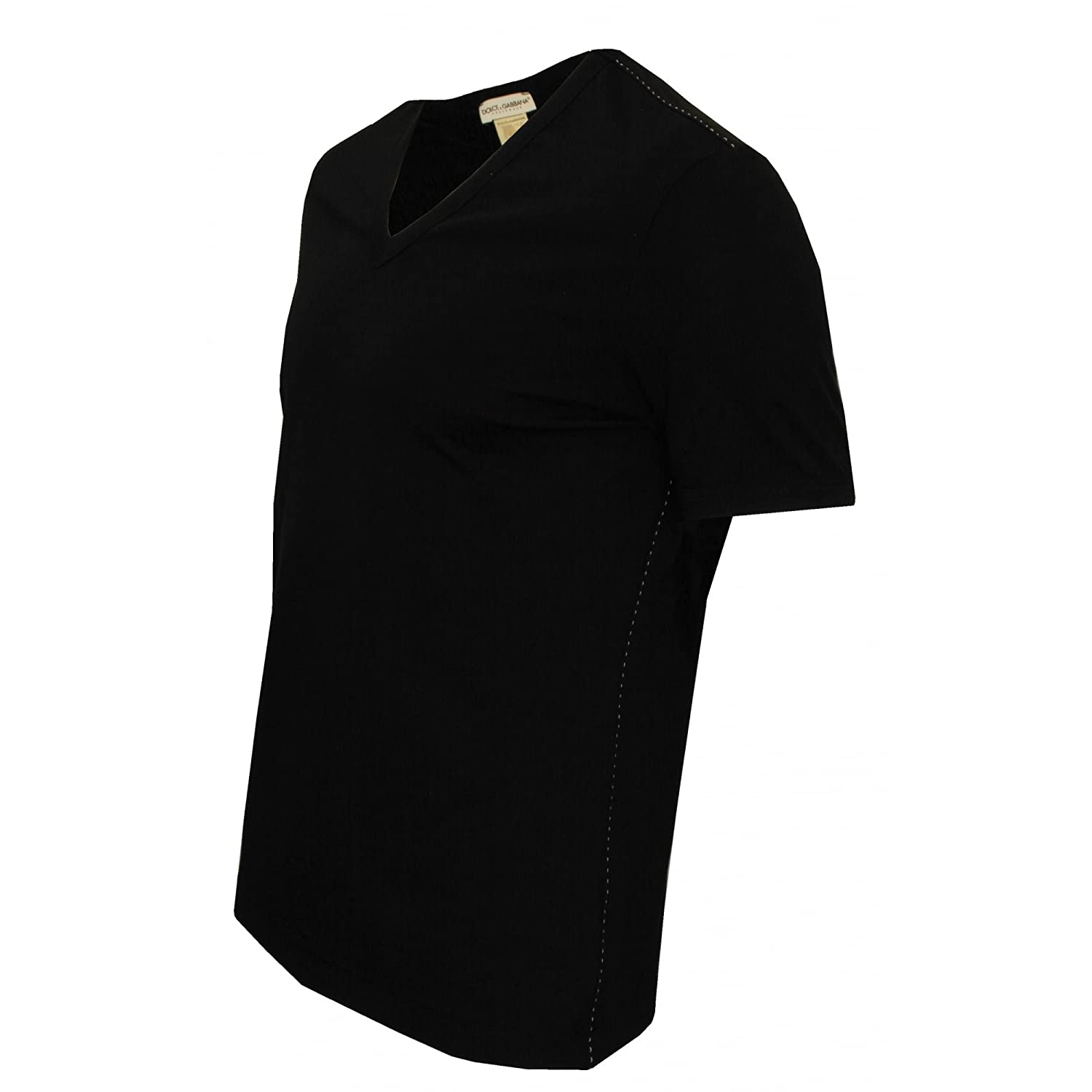 9110ad951dd Amazon.com: Dolce & Gabbana Mens Tailoring V-Neck T-Shirt: Clothing
