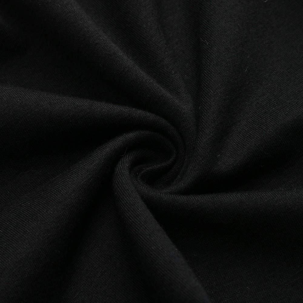 Womens Fashion Elastic Waist Solid Pleated Vintage A-line Loose Long Skirts Black by Cardigo (Image #6)