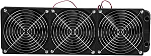 Bewinner CPU Water Cooling Radiator 120MM/360MM Liquid CPU Cooler G1/4 Thread Heat Row Radiator with Fan 18 Tubes for Computer CPU Water-Cooled Fan(360mm)