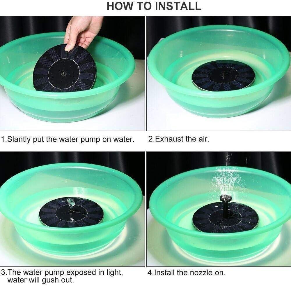 Fontaine solaire Pompe /à /énergie solaire Fontaine pompe pompe /à eau solaire 1W Cercle de jardin solaire de pompe /à eau Fontaine pompe pour Birdbaths /étangs