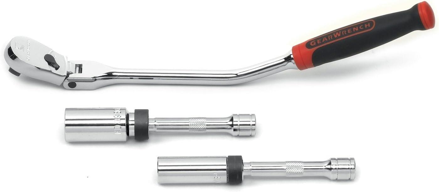 Gearwrench 81229 3 piece Spark Plug Ratcheting Socket Set