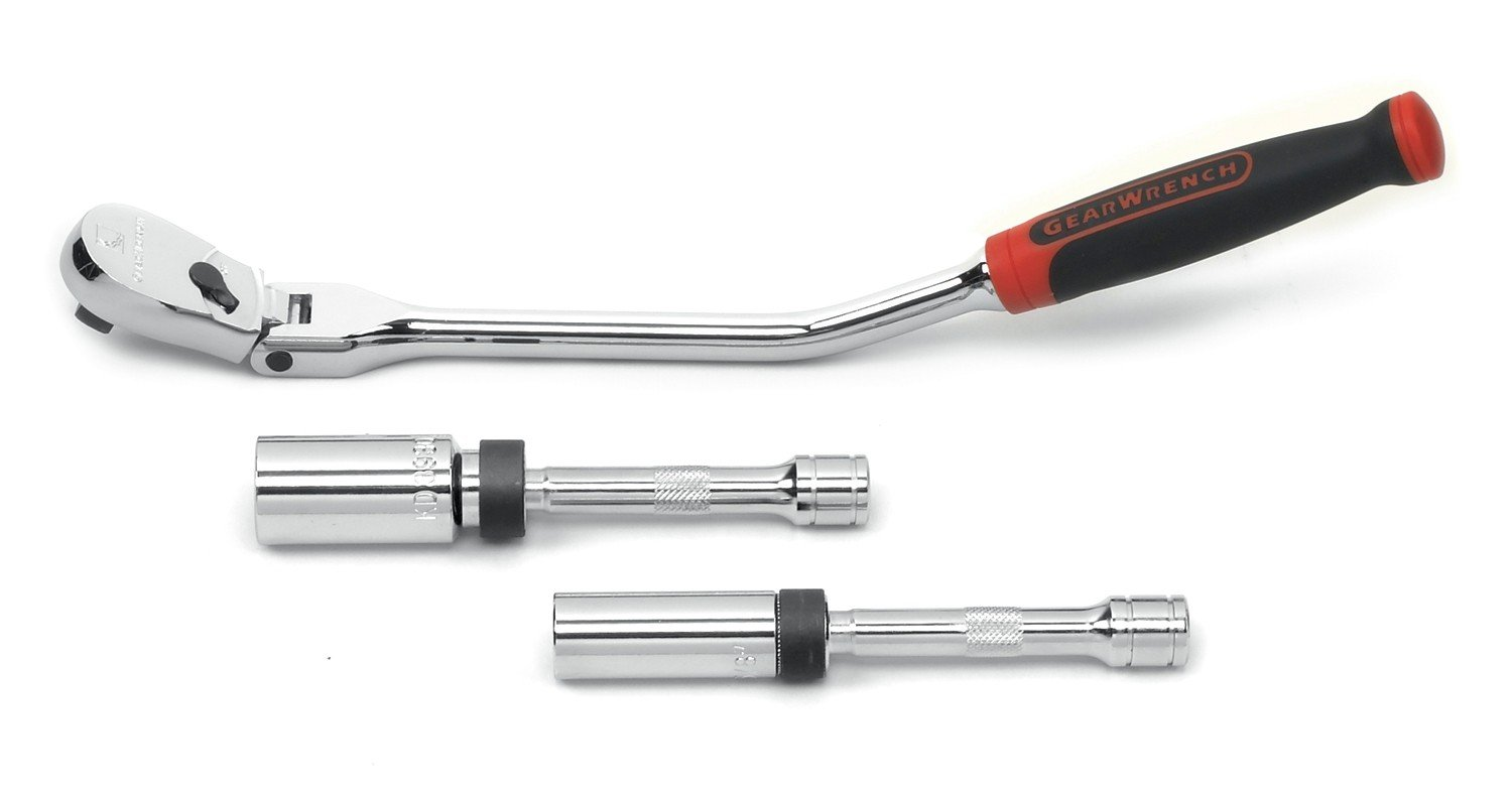 GEARWRENCH 3 Pc. 3/8'' Drive 6 Point Spark Plug Mechanics Tool Set - 81229 by GearWrench