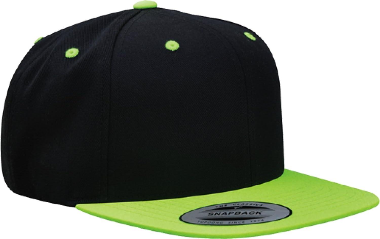 293e2a911d5 Amazon.com  Yupoong Wool Blend Snapback Two-Tone Snap Back Hat Baseball Cap  6098MT (Black