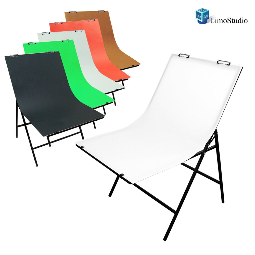 LimoStudio Photography Photo Studio Foldable Photo Shooting Table with 5 Color Paper Background Set, AGG1474 by LimoStudio