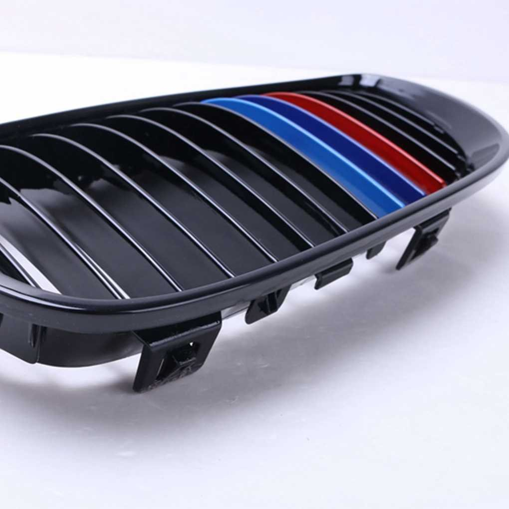 Meisijia Glanz-Schwarz-M-Farben-Auto-Front-Nieren-Gitter f/ür E92 E93 316i 320d 320i 323i 325d 325i 330i 10-13