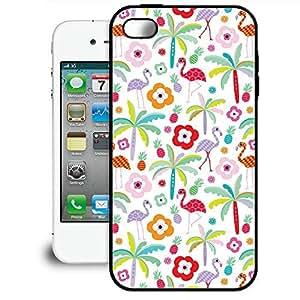 Bumper Phone Case For Apple iPhone 4/4S - Flamingo Paradise Light Designer Lightweight by lolosakes