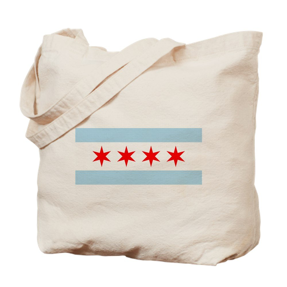 CafePress – Chicago Flag – ナチュラルキャンバストートバッグ、布ショッピングバッグ B00WJEAJLA
