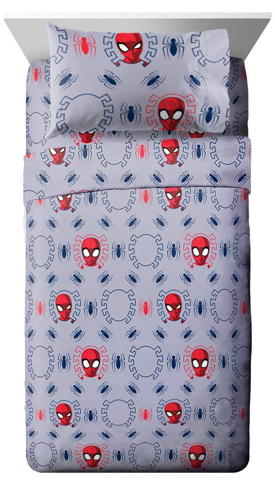 Jay Franco Marvel Spiderman Spidey Crawl Full Sheet Set - Super Soft and Cozy Kid's Bedding - Fade Resistant Polyester Microfiber Sheets (Official Marvel Product)
