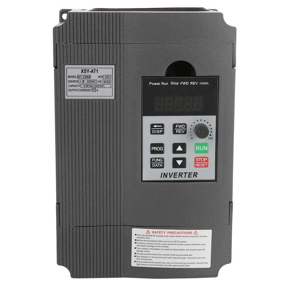 Variable Frequency Drive VFD,2.2KW 220V Single Phase Universal Variable Frequency Drive VFD Frequency Converter Inverter by Neufday