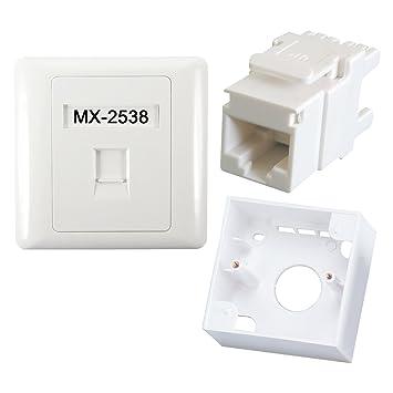5PC RJ45 CAT5e Keystone Jack Ethernet Network Module Cable Punch Down Wall Plug