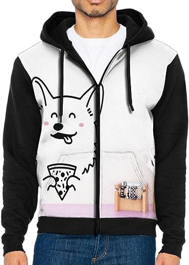 Shenghong Lin Christmas Corgi Dog Funny Mens Black Hoodie Sweatshirt Sportswear Jackets With Hoodies