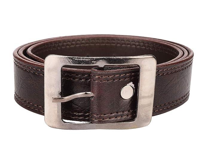 poland Men's Artificial Leather Belt  Brown  Belts