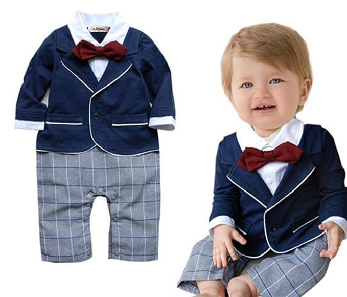 Amazon.com: stylesilove Newborn Infant Toddler Chic Baby Boy Formal ...