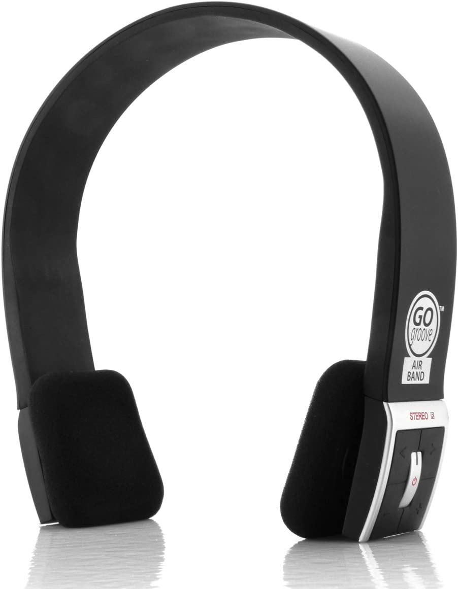 GOgroove AirBAND Bluetooth On-Ear Headphones with Hands-Free Microphone and Onboard Controls - Compatible with Smartphones, Tablets, Computers, and TVs with Bluetooth Connectivity [REFURBISHED]