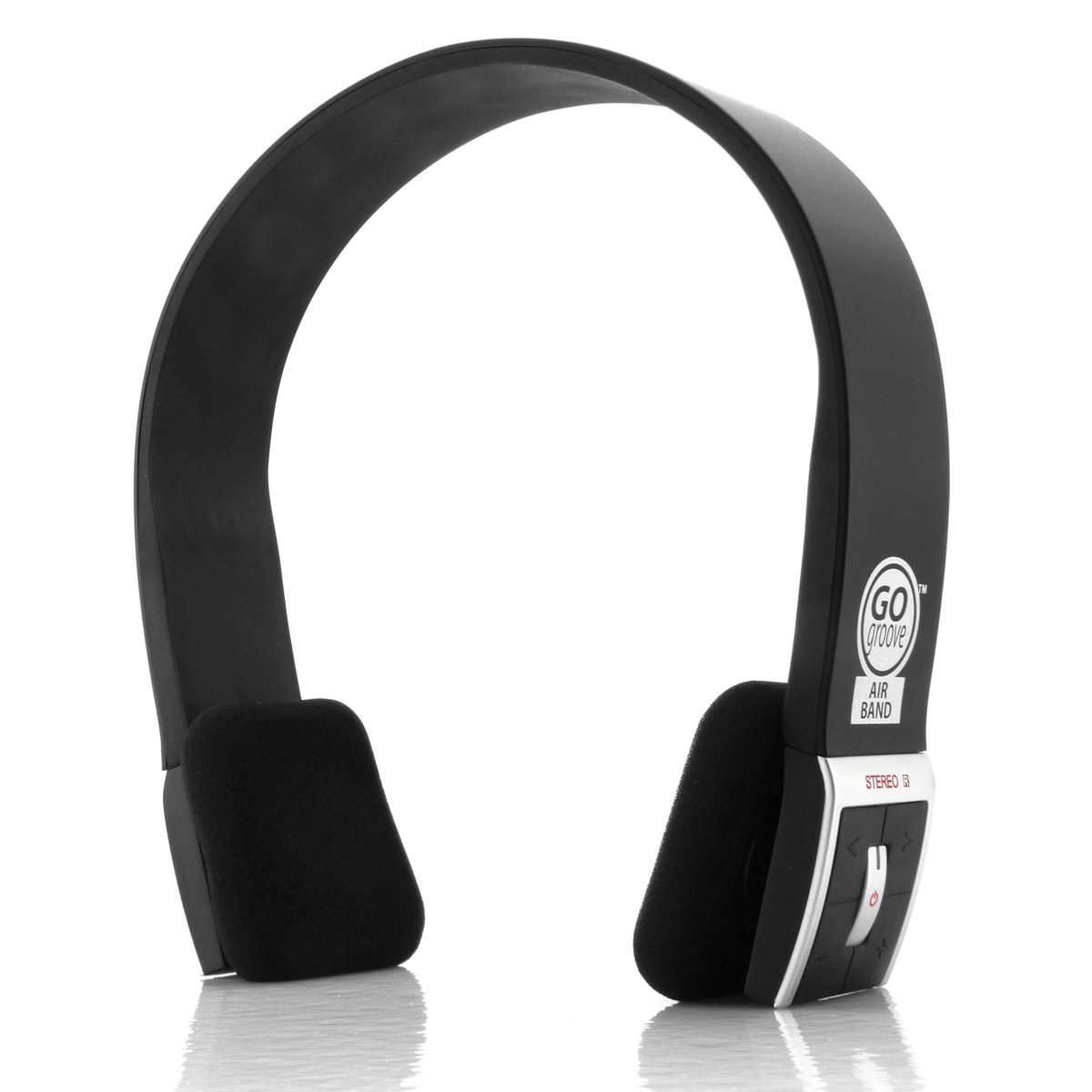 Gogroove Airband Wireless Bluetooth Stereo Headphones Quatro 2 Super Loud 20 Usb Speaker By Sonicgear Green With Microphone And Onboard Controls Compact Adjustable Sleek Headband Design