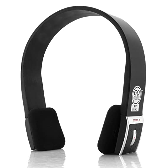 GOgroove AirBAND Bluetooth Over-Ear Headphones with Hands-Free Microphone  and Onboard Controls Works with Apple iPhone, Samsung Galaxy, LG G6, and