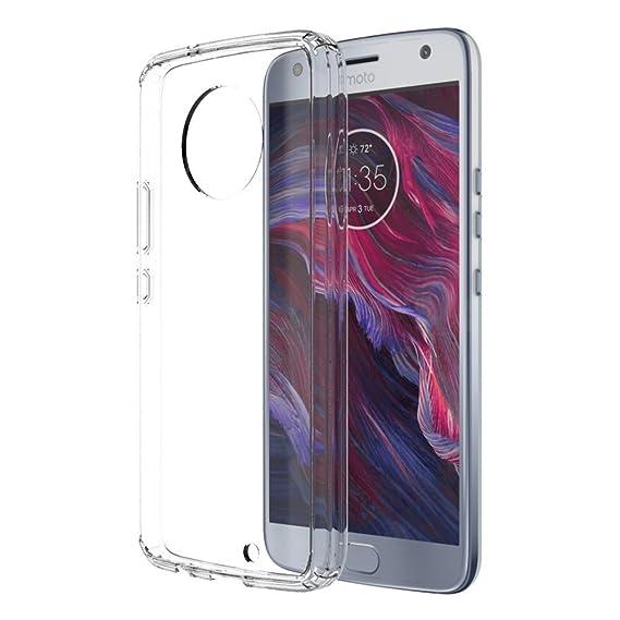 buy online 66bea 7aba7 Skmy Moto X4 Case, Moto X 2017 Case, Soft TPU Case Crystal Transparent Slim  Anti Slip Case Back Protector Case Cover for Motorola Moto X (2017) ...
