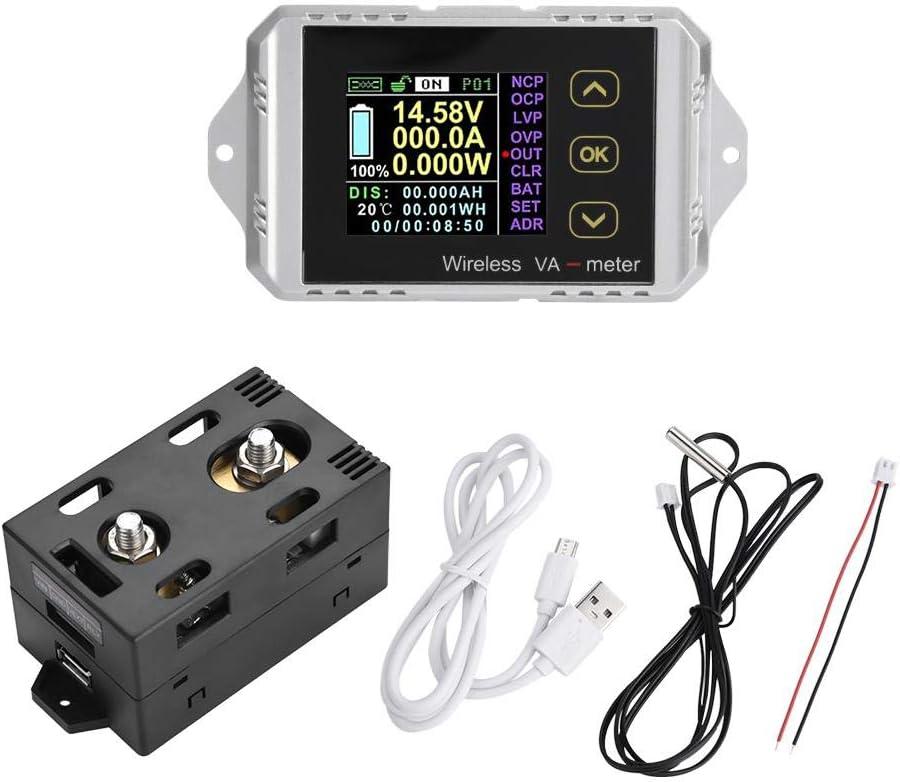 DC Voltage Ammeter Power Meter Wireless DC Voltage Ammeter Power Meter Watt Tester Coulomb Meter VAT-1050