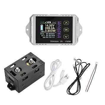 akozon multimeter dc voltmeter wireless color lcd screen dc voltage rh amazon com