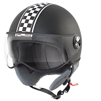 CASCO 1 / 2 JET TNT PUCK CAFE RACER UNION JACK S