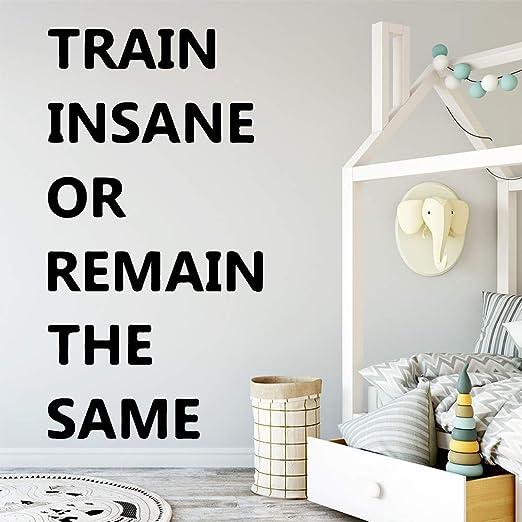 xinyouzhihi Cute Quote Train In Sane Pegatinas de Pared ...