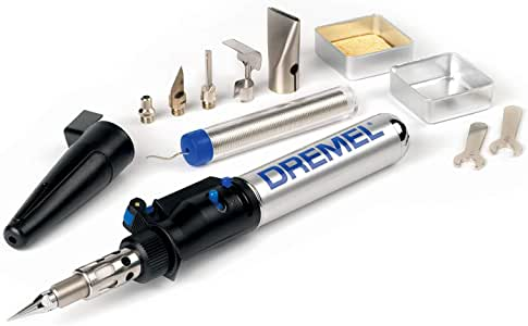 Dremel Versatip 2000 Butane Gas Soldering Iron Kit (With 6 Interchangeable Pen Tips for Welding, Wood Burning, Pyrography, Jewellery Making, Arts and Crafts)