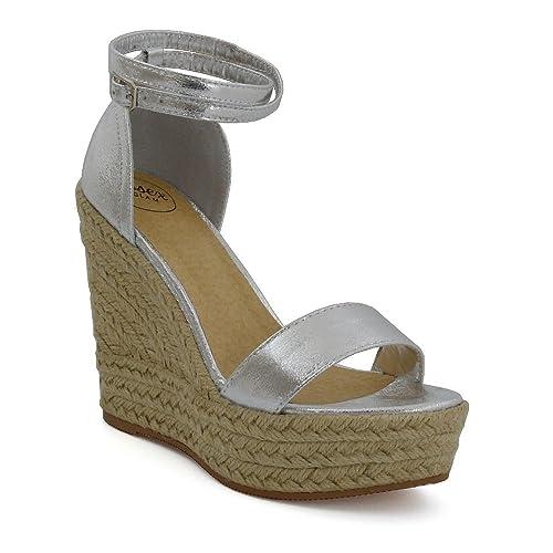 96eec77350be5 Amazon.com | ESSEX GLAM Womens Wedge Heels Platform Ankle Strap Peep ...