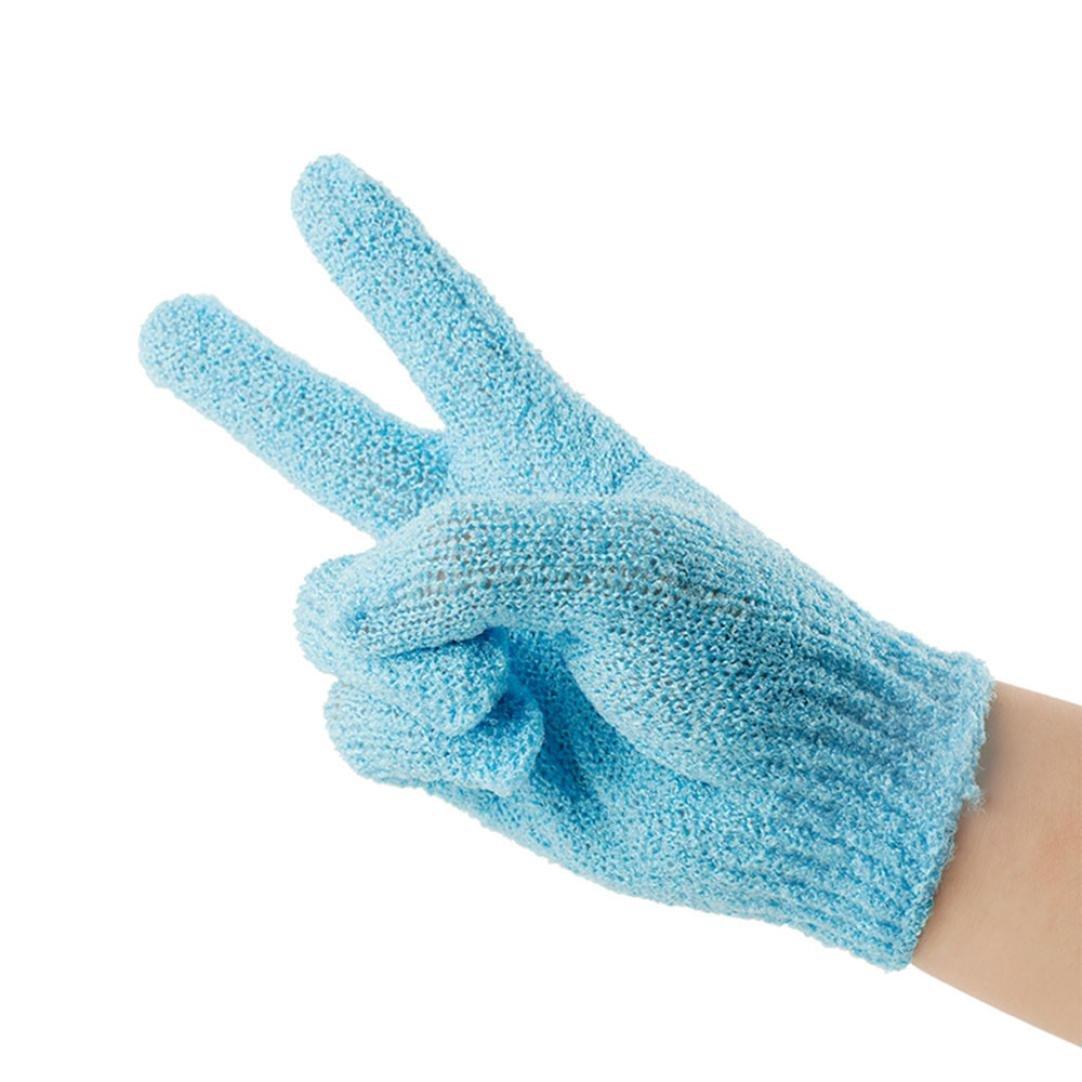 Creative Scrubbing Towel Gloves, Mamum Shower Gloves Exfoliating Wash Skin Spa Bath Gloves Foam Bath Skid Resistance Body Massage Cleaning Loofah Scrubber (1 PC)