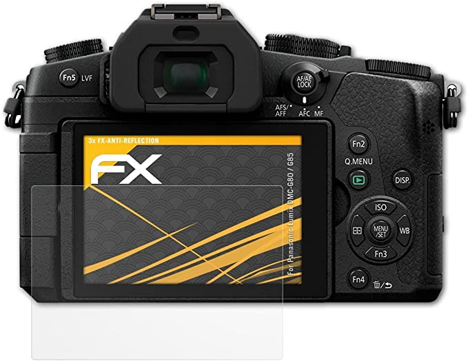 Anti-Shock Schutz Folie Panasonic Lumix DMC-GX80-3x Antireflex Schutzfolie