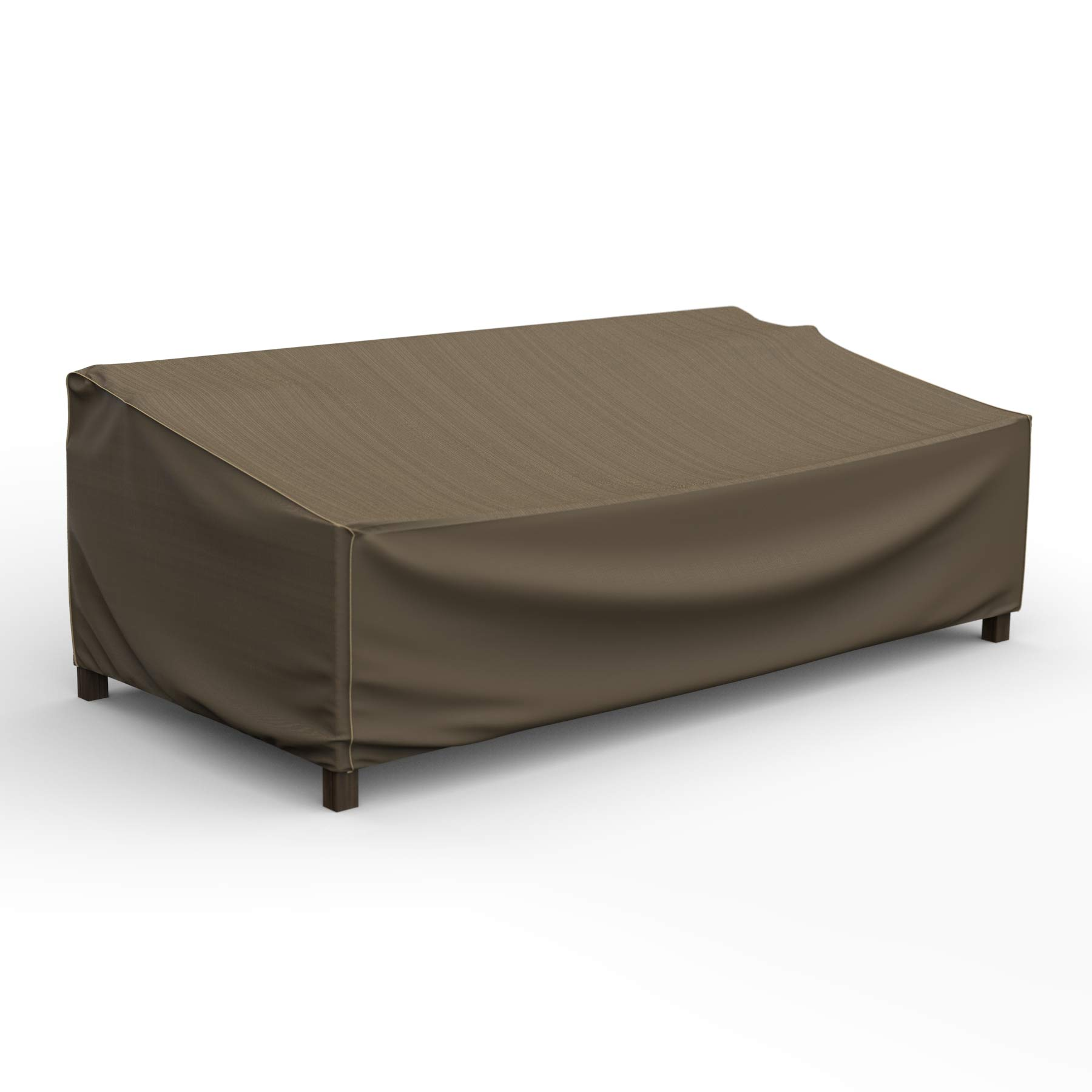 EmpireCovers NeverWet Platinum Outdoor Patio Loveseat Cover, Extra Large (Black and Tan Weave)