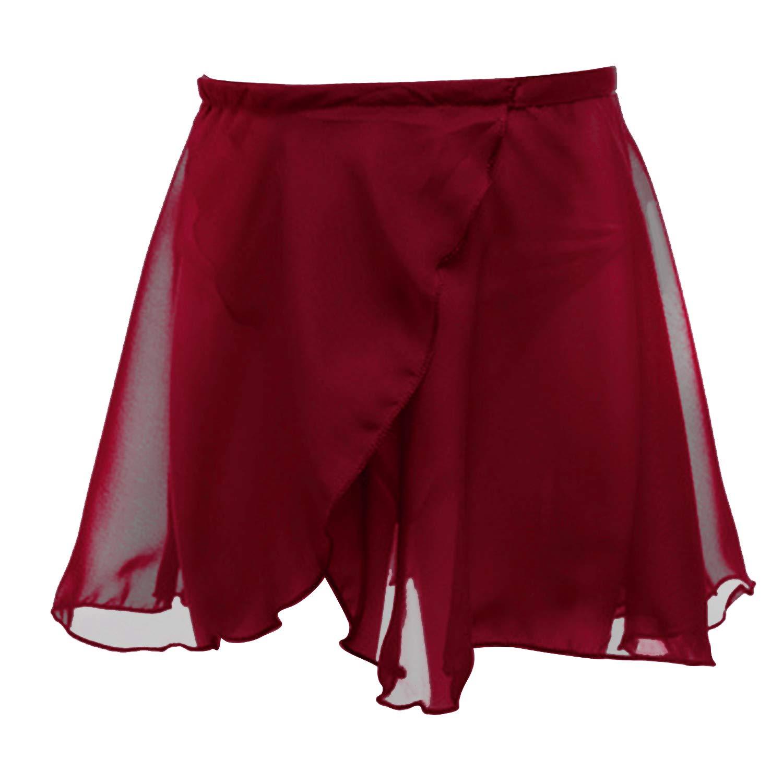 Martofbaby Girls Ballet Dance Skirt Chiffon Basic Wrap Tutu Dancewear Costumes ZT-LWDQ01-Dance Skirt