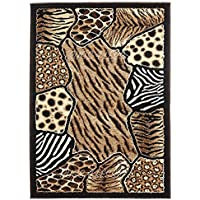 Animal Skin Prints Patchwork Leopard Zebra Rugs 4 Less Collection Area Rug R4L 74 (2x33)