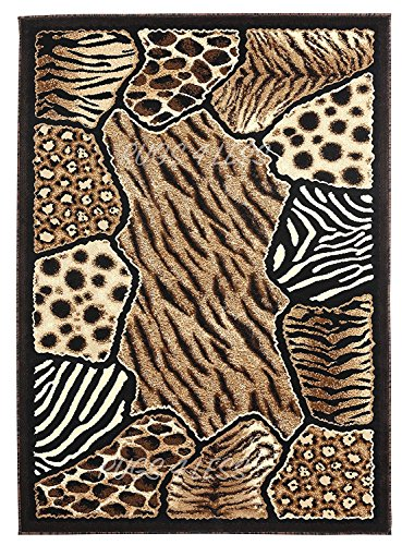 Animal Collection Zebra Rug (Animal Skin Prints Patchwork Leopard Zebra Rugs 4 Less Collection Area Rug R4L 74 (2'x3'3