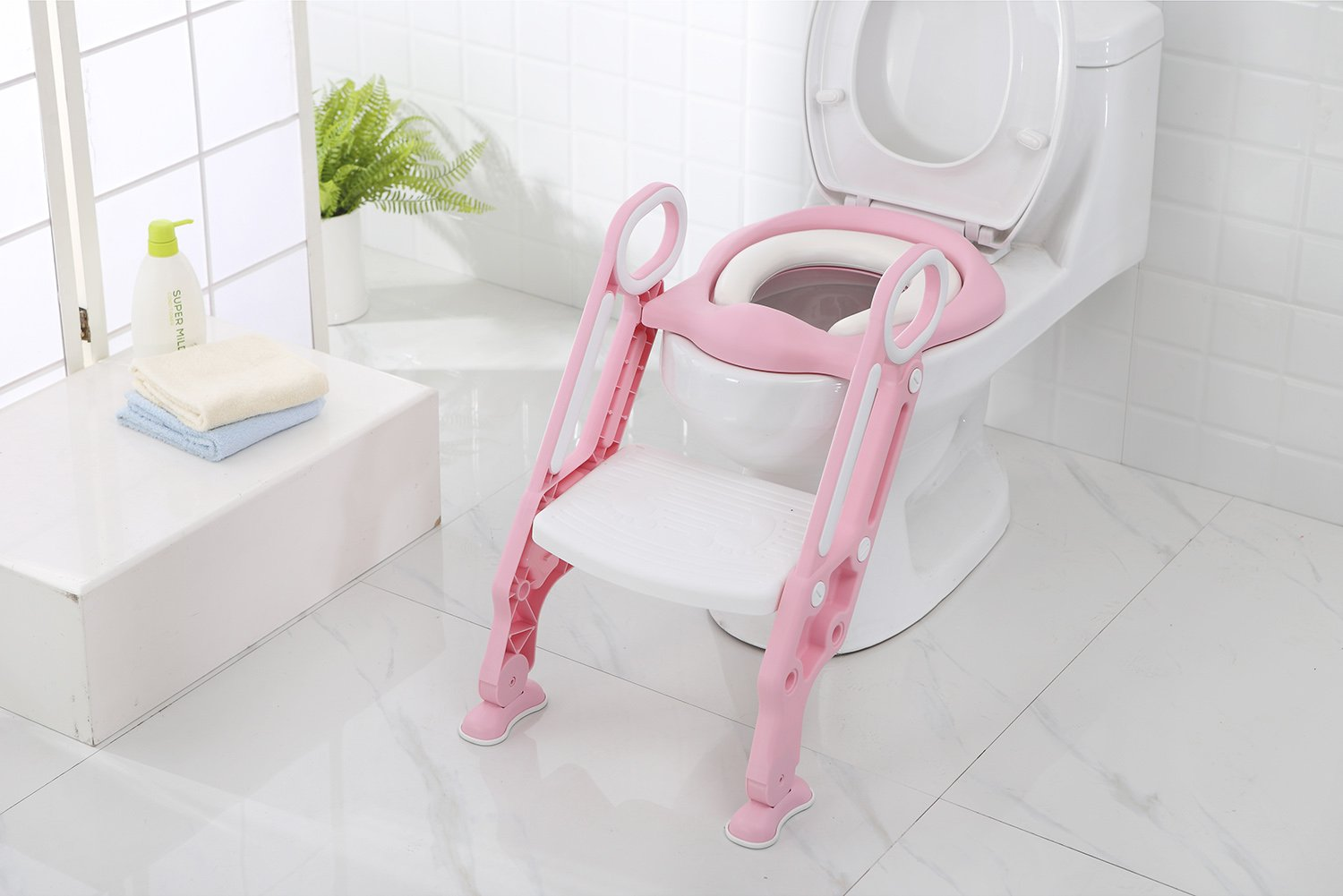 Iapetus Potty Toilet Training Seat with Step Stool Ladder for Kids and Babes, Portable Children' s Toilet Seat Chair, Comfortable, Safe, Sturdy, Excellent Potty Seat Trainer for Boys and Girls Zhejiang China Ningbo Yinzhou District