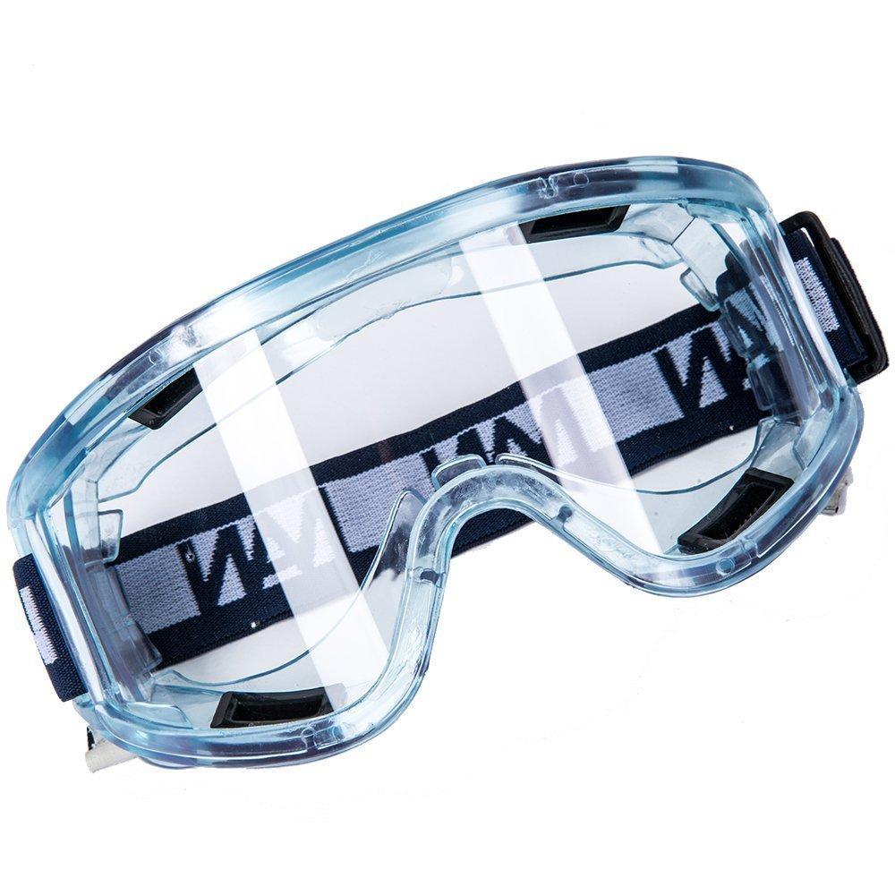 Babimax Lunettes Masque de Sécurité Lunettes de Sécurité Lunettes Vent Anti Tempete de Sable Lunettes Chimie Insectes Volants pour Sport Moto Vélo Conduite Masque Lunettes Anti UV Bleu Flexible RH-001