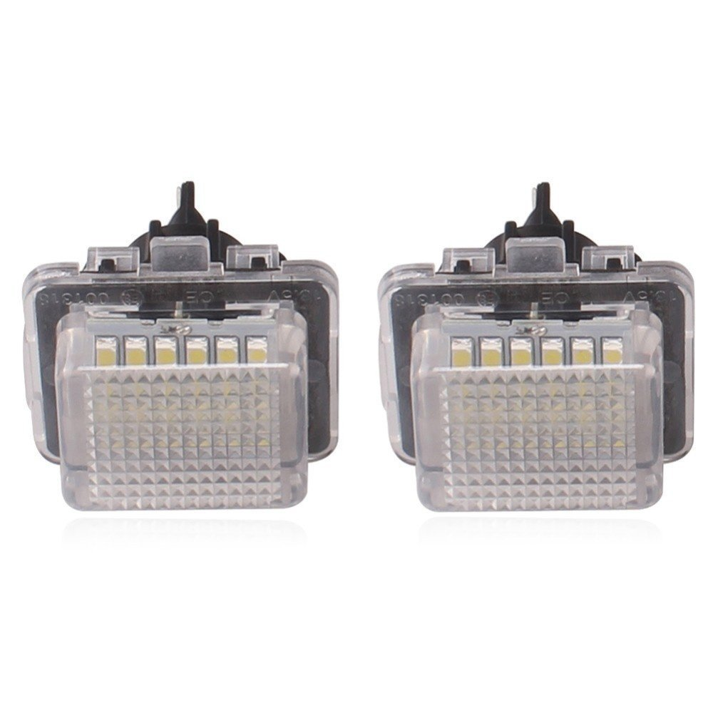 Pack of 2 TUINCYN 18SMD License Plate LED Light Universally Used for Renault Twingo Clio Megane Lagane