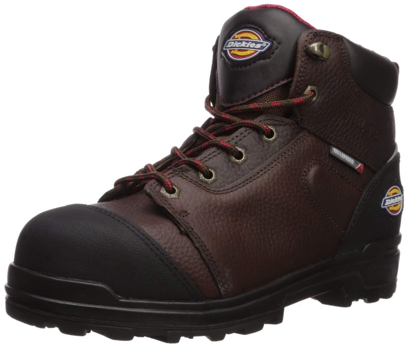 Dickies Men's Tanyard 6'' Steel Toe EH Waterproof Industrial Boot, Brown, 11 Medium US by Dickies